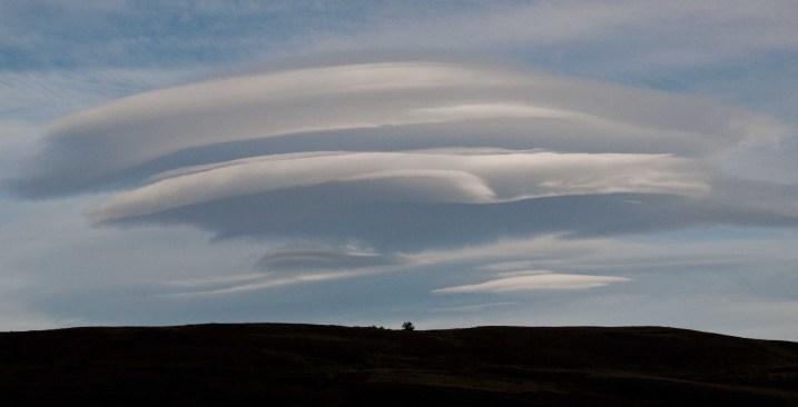 Lenticular cloud short from Hosteria Las Torres