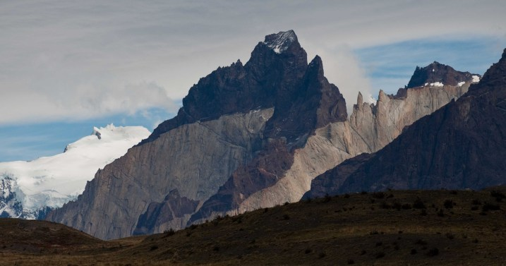 Multi-colored granite in the Torres del Paine massif