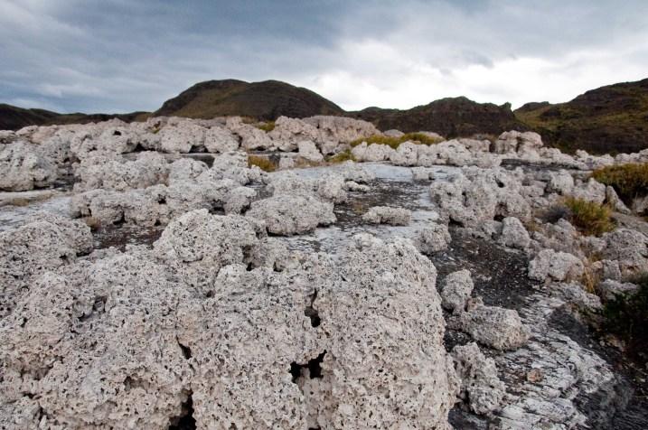 Calcite formations at Lago Sarmiento