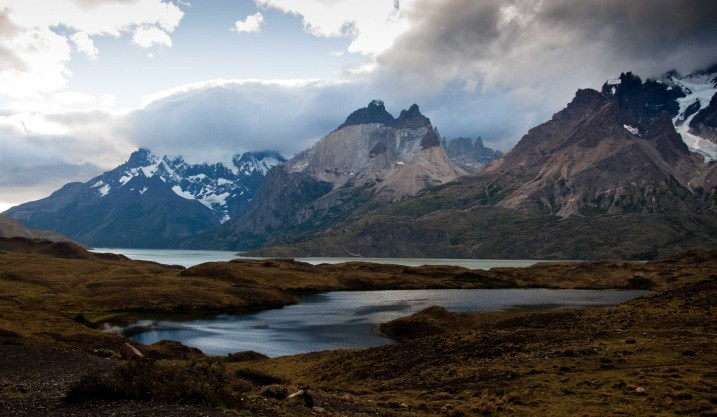 Looking across Lago Nordenskjold towards the Horns in Torres del Paine