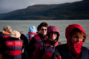 Passengers on the boat ride to Glaciar Grey