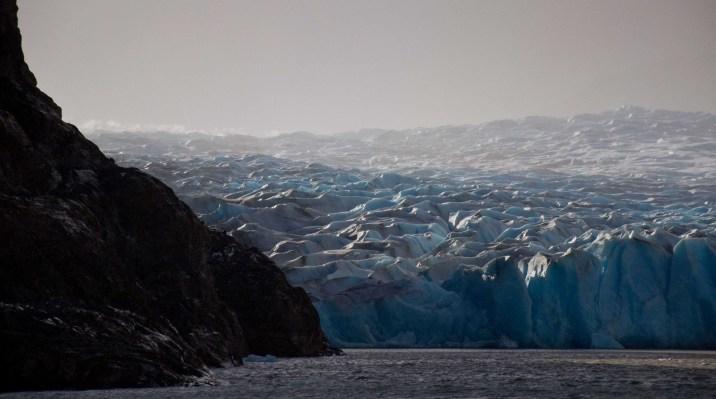 The eastern tongue of Glaciar Grey