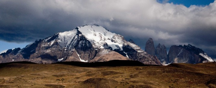 View towards the massif of Torres del Paine from the Black Bridge