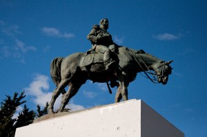 General Y Presidente Don Manuel Bulnes, or at least his statue, in Punta Arenas