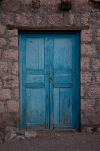 This shade of blue is the most common color for doors in the Atacama