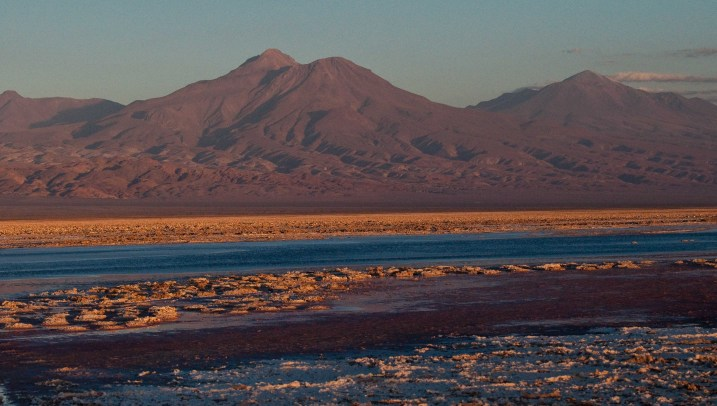 Andean volcanoes viewed from Salar de Atacama