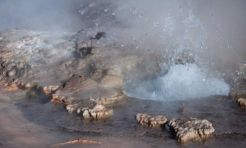 A small geyser at El Tatio in the Atacama Desert