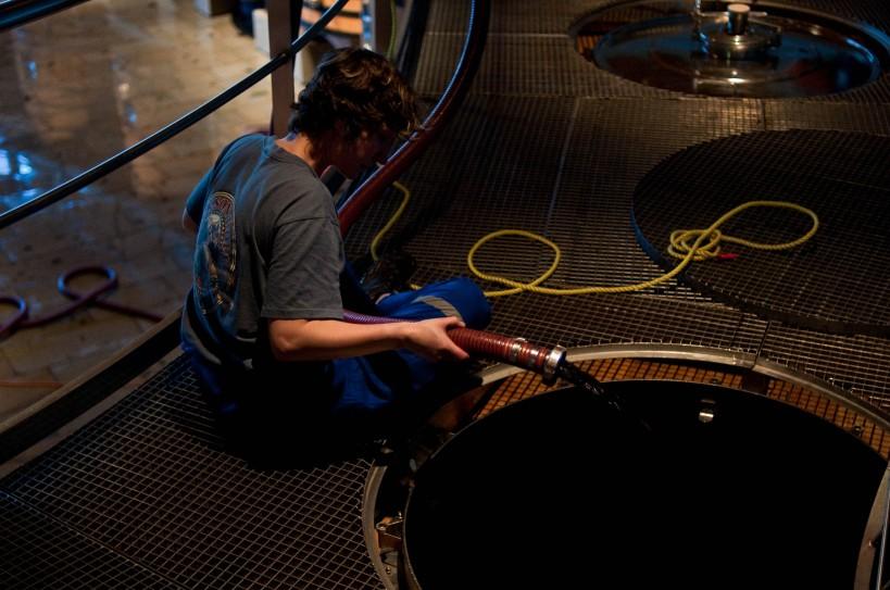 Making wine at Clos Apalta