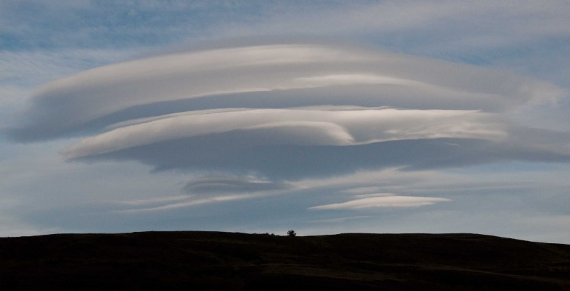 Lenticular cloud over Torres del Paine