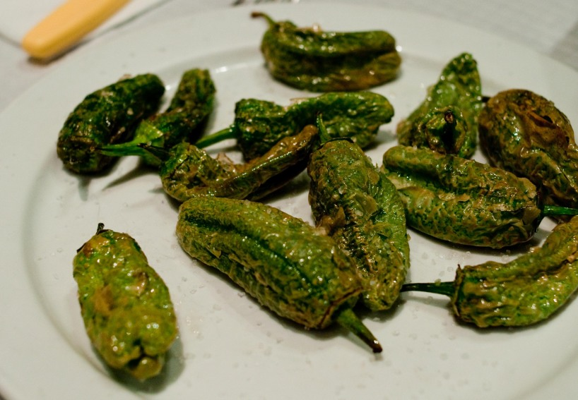 Little did we know that this simple plate of pimentos de padron would lead us to many others