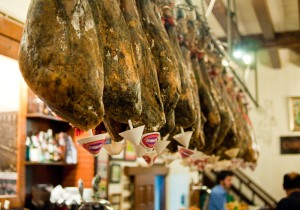 Hanging hams in Bar Gatz