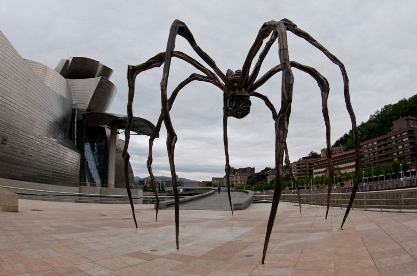 A giant spider outside the Guggenheim
