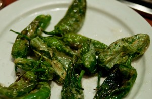 The nights plate of pimentos de Padron