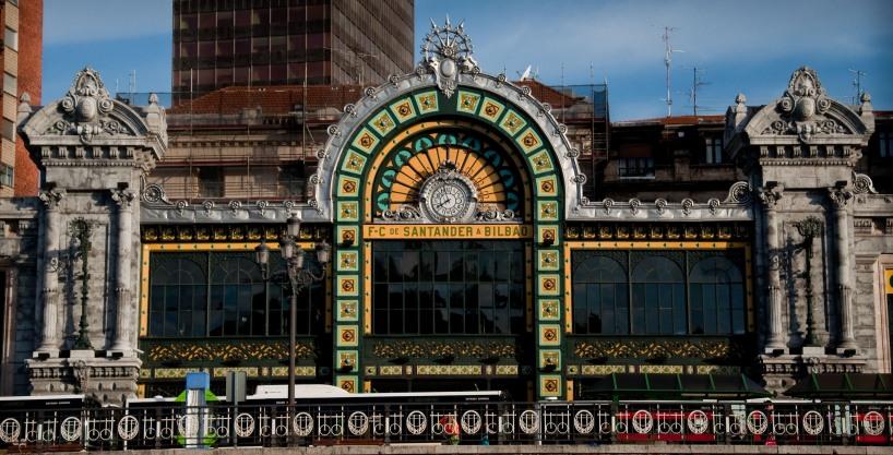 The Abando train station in Bilbao