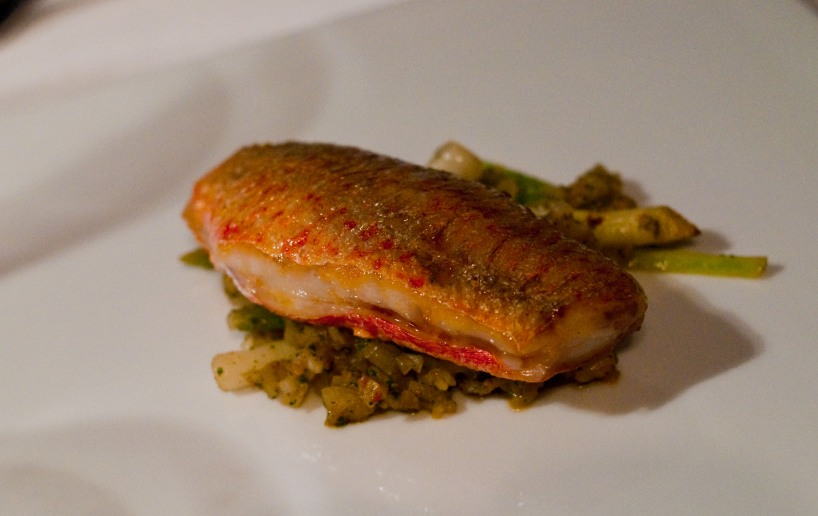 Red Mullet, a substitute dish for Becky