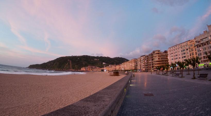 Playa de Zurriola, San Sebastian