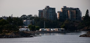 Our RV Park, Westbay Marine Village, as seen from the arriving ferry