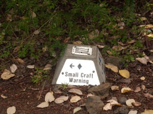 Trail marker for Small Craft Warning