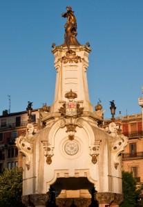 One of the towers on the Maria Cristina Bridge, San Sebastian