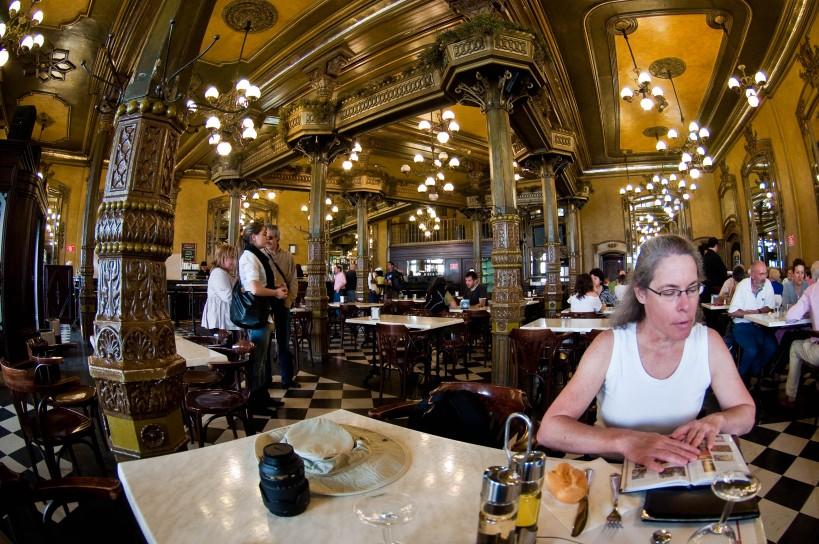 Inside Cafe Iruna in Pamplona