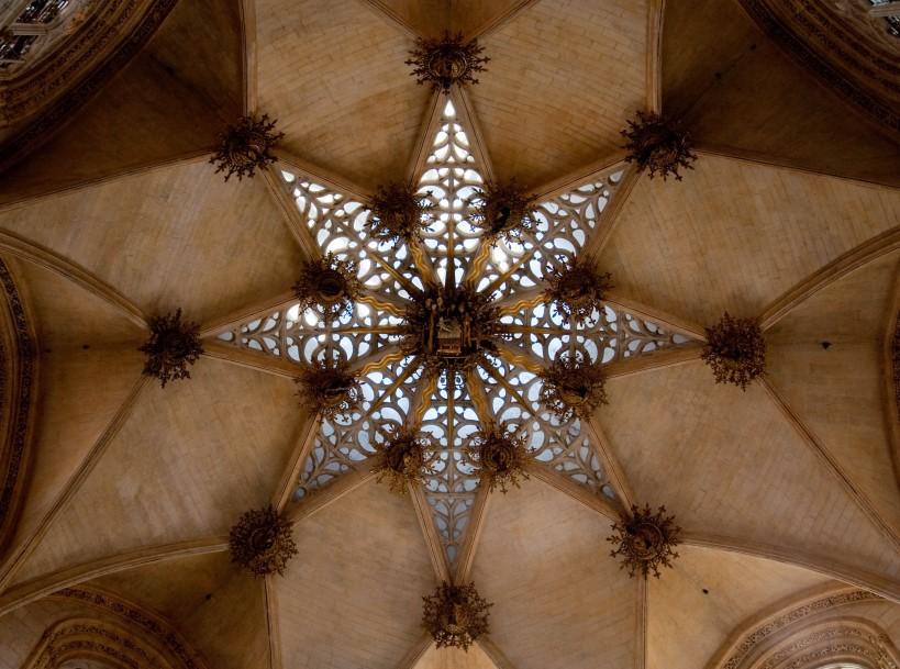 Ceiling inside the Burgos Cathedral