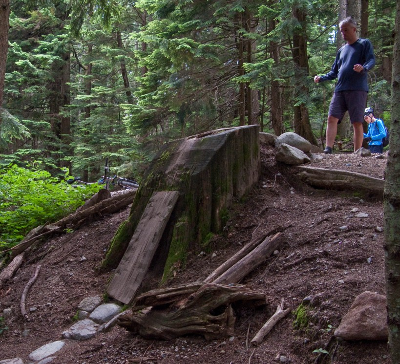 No Mere Mortal visualizing the alternative entry drop on Upper Pipeline at Mt. Fromme.