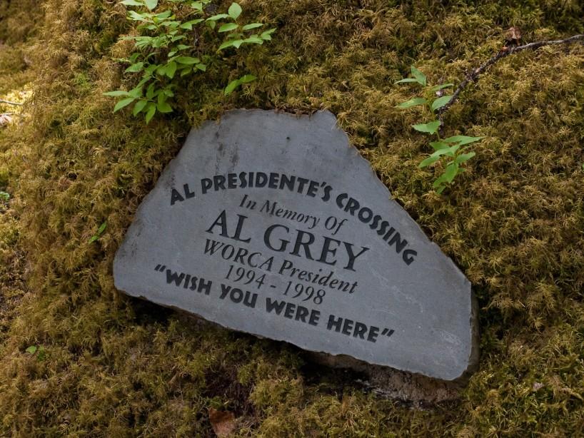 The Al Grey Bridge marker