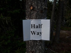 """Half Way""means that it is a long ways out in either direction."