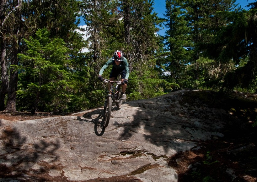 More pictures of people riding down granite outcrops...