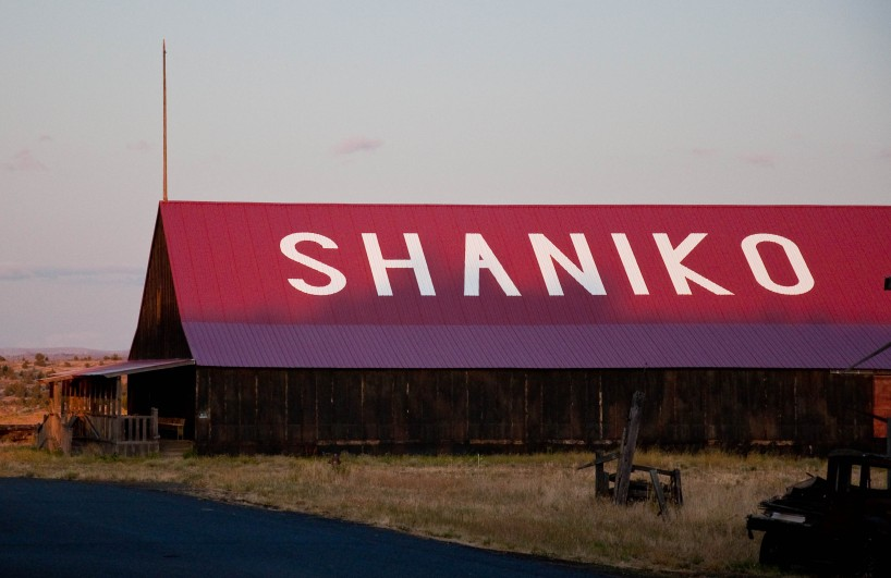 The ghost town of Shaniko, alongside US-97 in Oregon