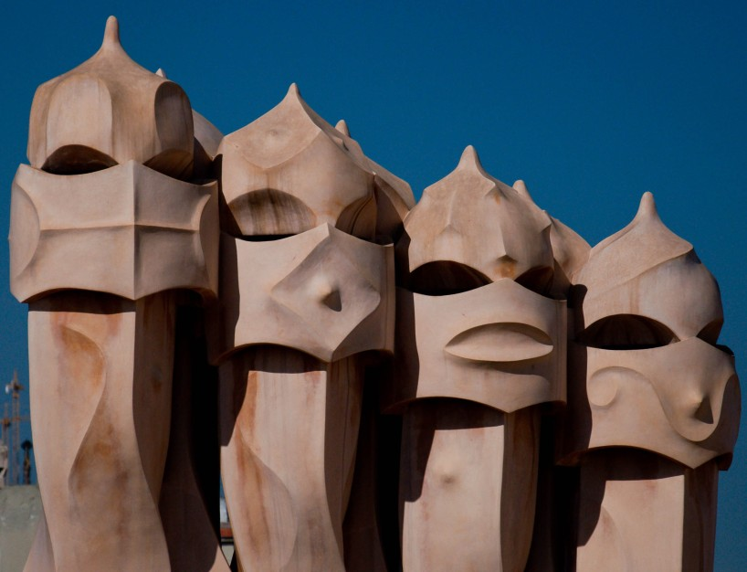 Vents on the roof of Gaudi's Casa Milà (la Pedrera)