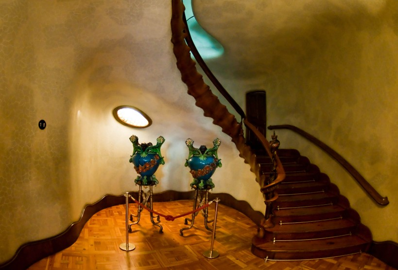 The stairwell inside Casa Batlló