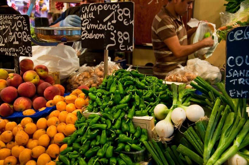 Padron peppers at La Boquería