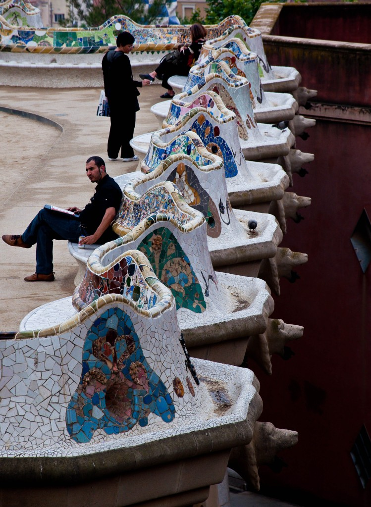 Benches at Park Guell, Barcelona
