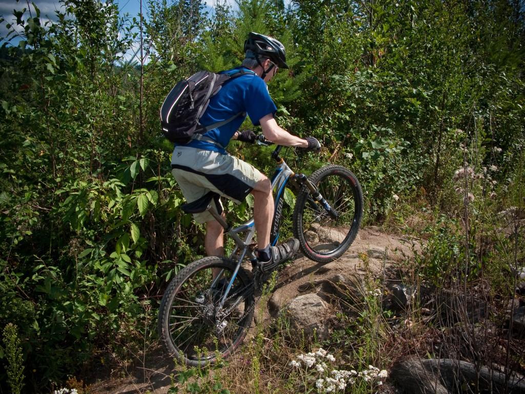 Knob's climbs Ridge Trail