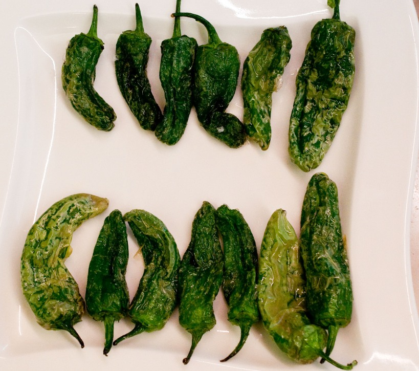 Padron peppers as served in San Sebastian