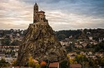 Saint Michel d'Aiguilhe Chapel on top of a puy in Le Puy-en-Velay
