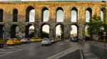 The sun sets on the Valens Aqueduct