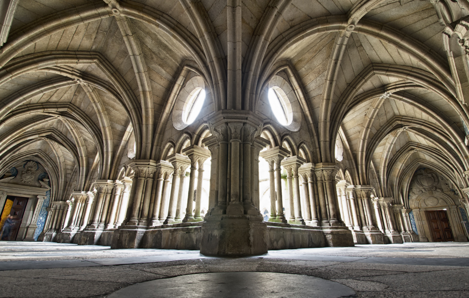 Inside the cloister at Sé do Porto