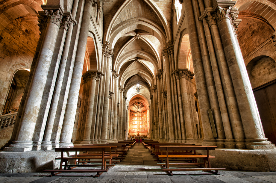 Inside the nave of the old cathedral