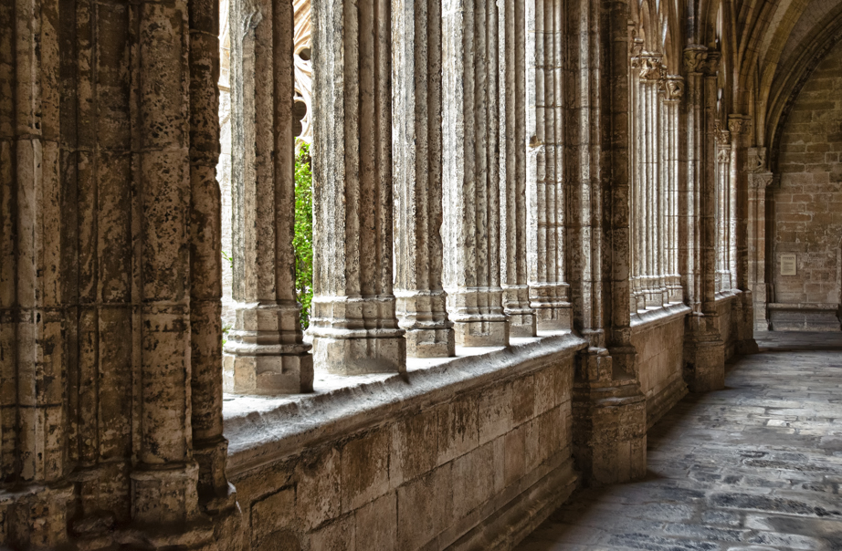 Inside the cloister of Cathedral of San Salvadora