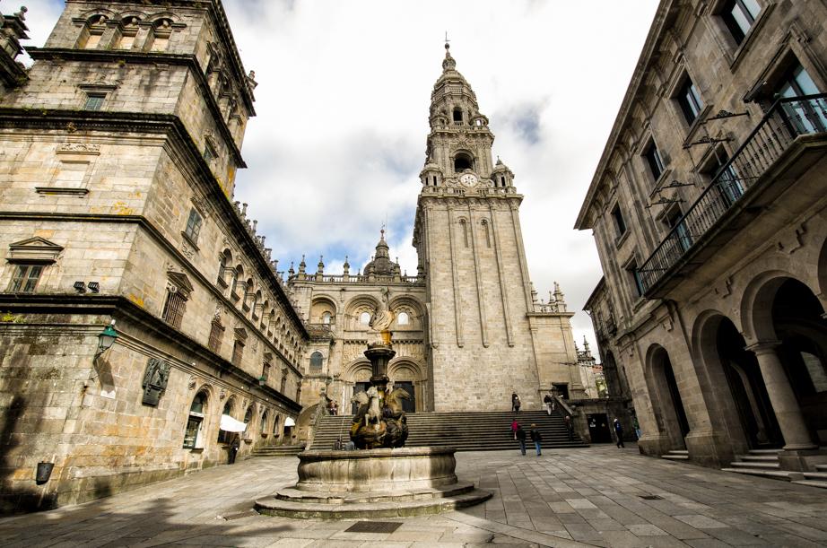 Catedral de Santiago de Compostela viewed from Praza das Praterías