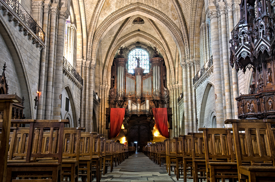 Inside Angers' cathedral