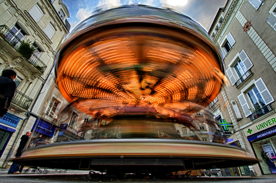 A merry-go-round in Angers