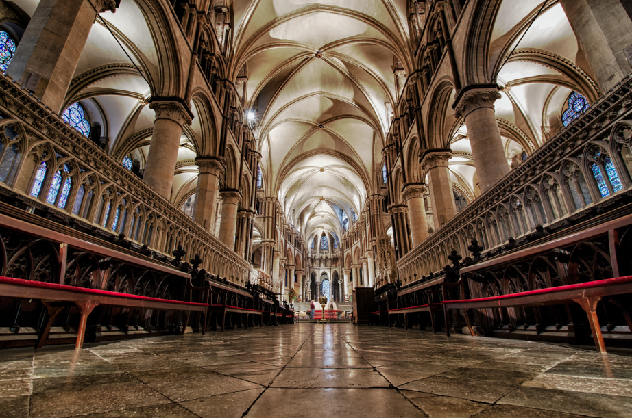 Inside the choir of Canterbury's cathedral