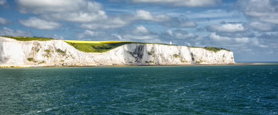 The fabled White Cliffs of Dover