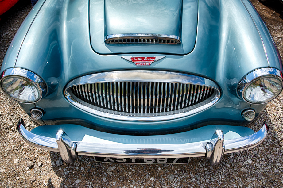 Another mode of transport:  Classic cars on display at Froghall