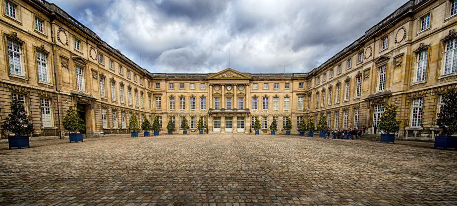 The entry courtyard of Château de Compiègne