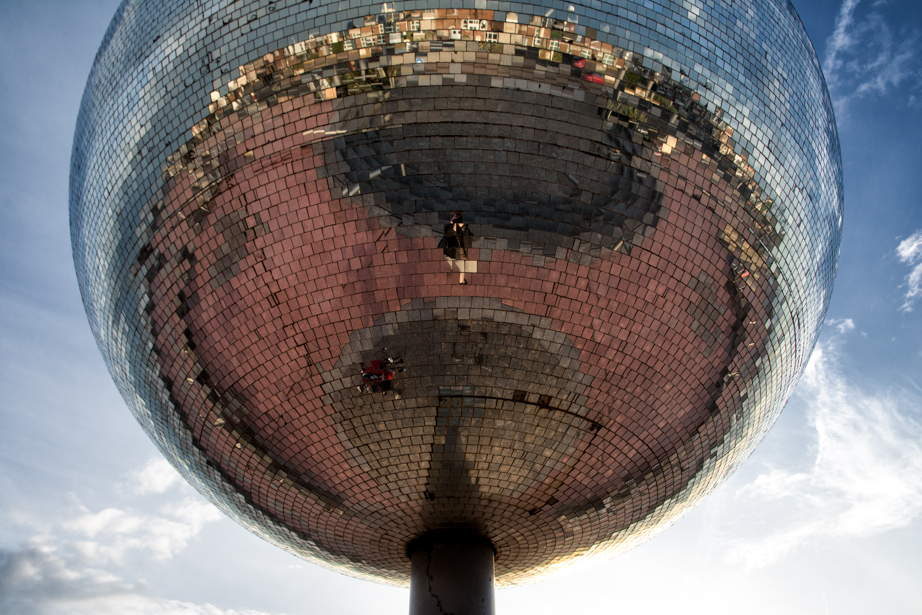 On the waterfront:  Blackpool's mirror ball was once the World's largest.
