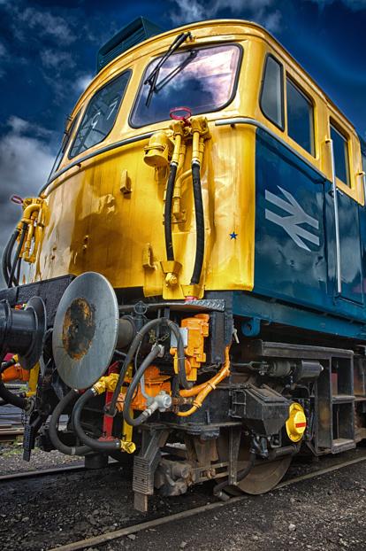 An engine along the Churnett Valley Railway